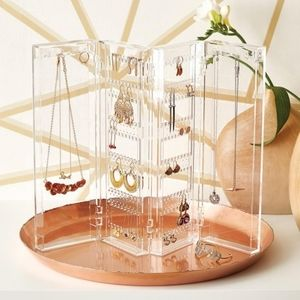 Container Store Acrylic Folding Jewelry Organizer